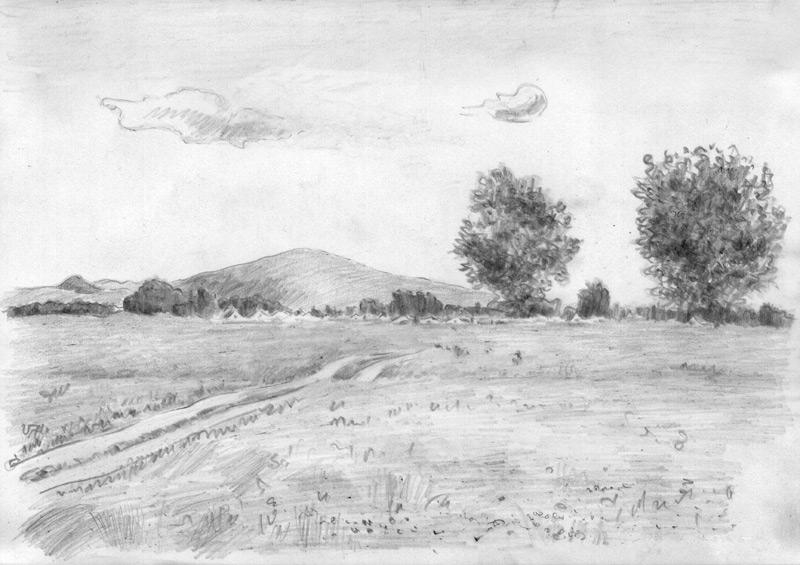 рисунки горы фото