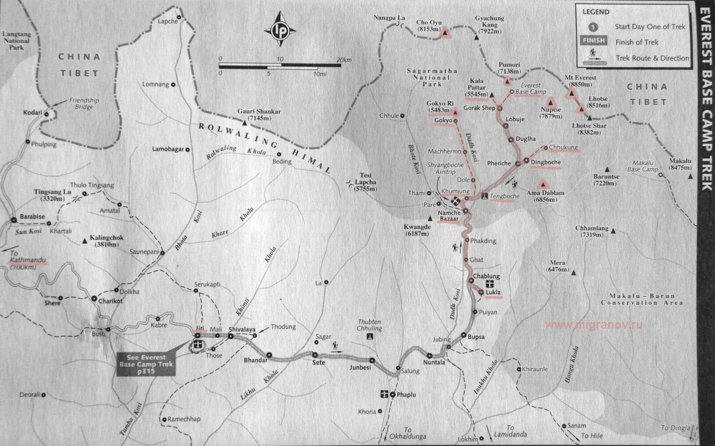 карта эвереста со спутника