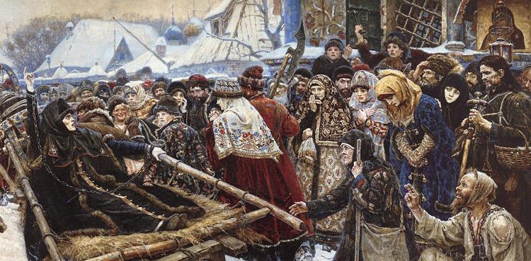 картина боярыня морозова сурикова фото