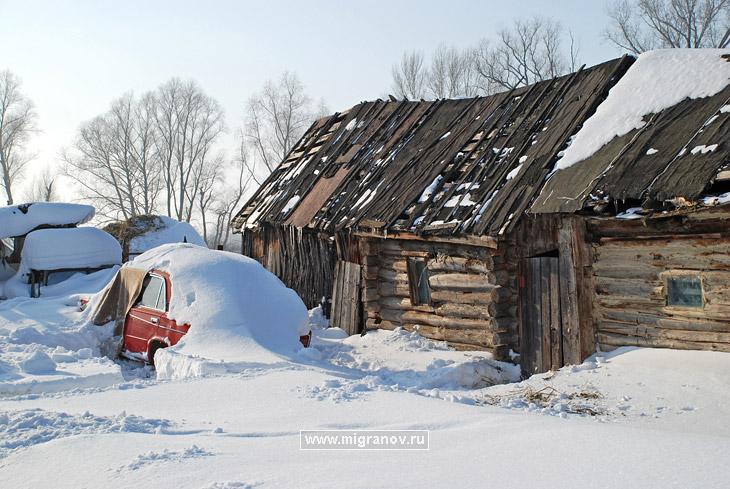 Фото зима в деревне